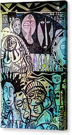 African Village Acrylic Print by Robert Daniels
