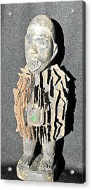 African Wood Carving With Nail Fetish Acrylic Print by Anonymous