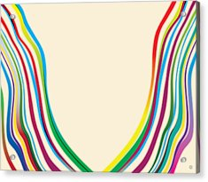 After Morris Louis 2 Acrylic Print by Gary Grayson