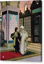 After Prayers At The Mosque Acrylic Print by Rudolphe Ernst
