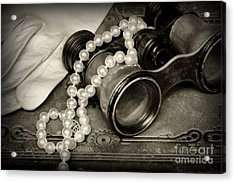 After The Opera In Black And White Acrylic Print by Paul Ward