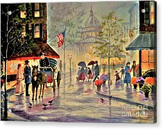 After The Rain Acrylic Print by Marilyn Smith