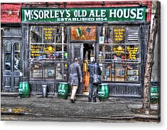 Afternoon At Mcsorley's Acrylic Print by Randy Aveille