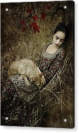 Afternoon Nap Acrylic Print by Cambion Art