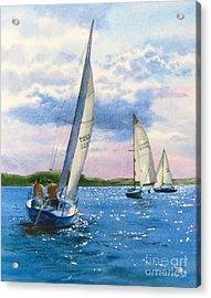 Afternoon Sail Acrylic Print by Karol Wyckoff