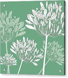 Agapanthus Breeze Acrylic Print by Sarah Hough