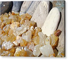 Agate Rocks Beach Art Prints Agates Acrylic Print by Baslee Troutman