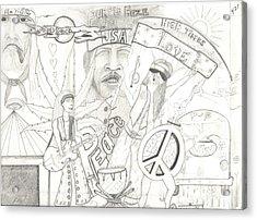 Age Of Aquarius Acrylic Print by Daryl Schooley