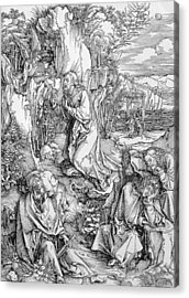 Agony In The Garden From The 'great Passion' Series Acrylic Print by Albrecht Duerer