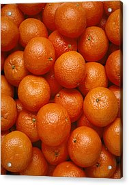 Agriculture - Field Of Tangerines Acrylic Print by Joel Glenn
