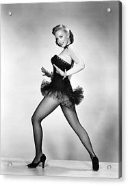 Aint Misbehavin, Piper Laurie, 1955 Acrylic Print by Everett