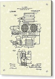 Air Conditioner 1916 Patent Art Acrylic Print by Prior Art Design