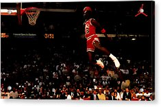 Air Jordan In Flight Acrylic Print by Brian Reaves
