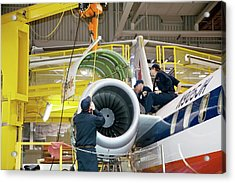 Aircraft Maintenance Training Acrylic Print by Jim West