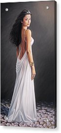 Aishwarya Rai - Oil On Canvas Acrylic Print by Mike Roberts