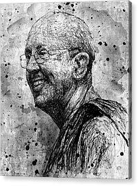 Ajahn Brahm Acrylic Print by Michael  Volpicelli