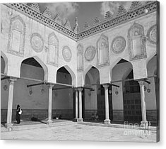 Al Azhar Mosque Cairo Acrylic Print by Nigel Fletcher-Jones