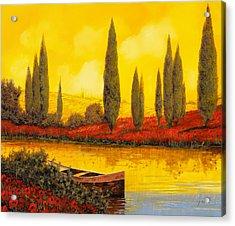 Al Tramonto Acrylic Print by Guido Borelli