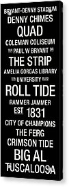 Alabama College Town Wall Art Acrylic Print by Replay Photos