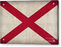 Alabama State Flag Acrylic Print by Pixel Chimp