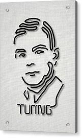 Alan Turing Acrylic Print by Ramon Andrade 3dciencia