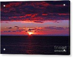 Alaskan Sunset Acrylic Print by Bob Hislop