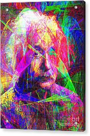 Albert Einstein 20130615 Acrylic Print by Wingsdomain Art and Photography