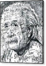 Albert Einstein Acrylic Print by Kyle Willis