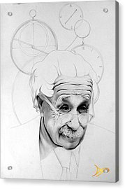 Albert Einstein Acrylic Print by Patrick Anthony Pierson