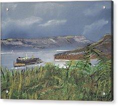 Alcatraz Acrylic Print by Michael Daniels