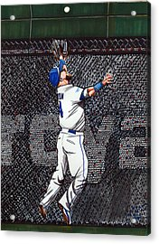Alex Gordon's Amazing Alcs Catch For The Kc Royals Acrylic Print by Dave Olsen