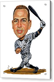 Alex Rodriguez Acrylic Print by Art