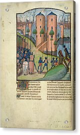 Alexander Before Thebes Acrylic Print by British Library