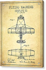 Alexander Graham Bell Flying Machine Patent From 1913 - Vintage Acrylic Print by Aged Pixel