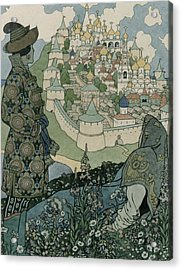 Alexander Pushkin's Fairytale Of The Tsar Saltan Acrylic Print by Ivan Jakovlevich Bilibin