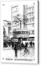 Alexanderplatz Acrylic Print by Stefan Kuhn