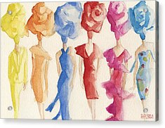 Alexis Mabille Couture - Fashion Illustration Art Print Acrylic Print by Beverly Brown Prints