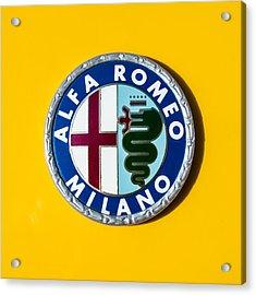 Alfa Romeo Emblem Acrylic Print by Jill Reger