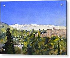 Alhambra Granada Acrylic Print by Margaret Merry