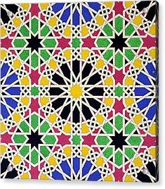 Alhambra Mosaic Acrylic Print by James Cavanagh Murphy