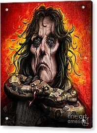 Alice Cooper Acrylic Print by Andre Koekemoer
