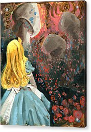 Alice In Mushroom Acres Acrylic Print by Luis  Navarro