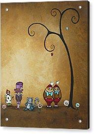 Alice In Wonderland Art - Encore - II Acrylic Print by Charlene Zatloukal