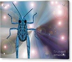 Alien In Cosmos Acrylic Print by Pierre Dumas