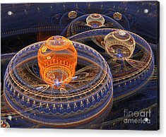 Alien Landscape Acrylic Print by Martin Capek