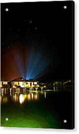 Alien Light At The Tropical Resort Acrylic Print by Jenny Rainbow