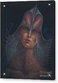 Alien Portrait Il Acrylic Print by Ricardo Chavez-Mendez