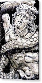 Alkyoneus - Detail No. 1 Acrylic Print by Steve Bogdanoff