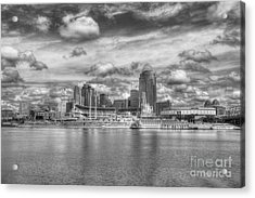 All American City 2 Bw Acrylic Print by Mel Steinhauer