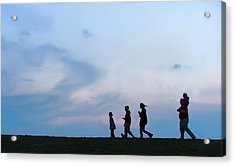 All American Family Acrylic Print by Julie Dant